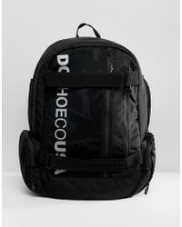 DC Shoes - Skate Backpack In Black With Logo - Lyst