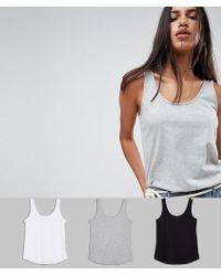ASOS - Ultimate Vest 3 Pack Save - Lyst