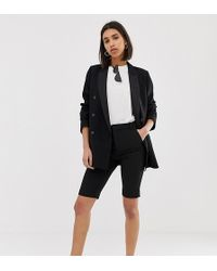 Mango - Tailored City Short In Black - Lyst