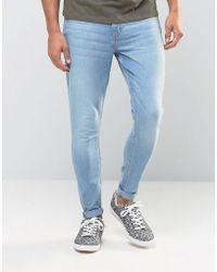 Cheap Monday - Jeans Mid Spray Extreme Superstretch Skinny Fit Stone Bleach - Lyst