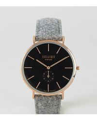 Reclaimed (vintage) - Inspired Sub-dial Wool Watch In Grey Exclusive To Asos - Lyst