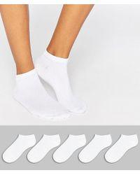 ASOS - Design 5 Pack Trainer Socks - Lyst