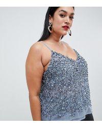ASOS - Asos Design Curve Cami Top With Sequin Embellishment - Lyst