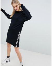 Bershka   Long Sleeve Jersey Dress With Popper Side   Lyst