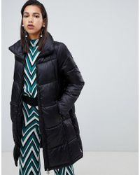 Vero Moda - Longline Padded Jacket With Ring Pull - Lyst