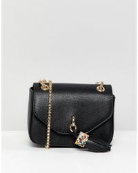 Dune - Evening Bag With Tassel Detail And Chain Strap - Lyst