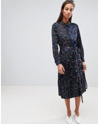 French Connection - Midi Shirt Dress In Obine Floral - Lyst