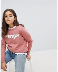 Wrangler - Flocked Logo Sweatshirt - Lyst