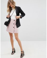 ASOS - Double Breasted Mini Skirt - Lyst