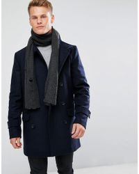 New Look - Scarf With Rips In Dark Grey - Lyst