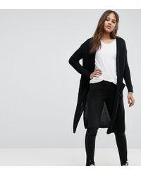 Noisy May Tall - Long Knit Cardigan - Lyst
