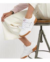 Reebok - Zapatillas de deporte blancas con suela de goma Workout Plus de - Lyst