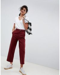 ASOS - Chino Trousers With Self Belt - Lyst
