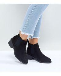 New Look - Low Black Heel Chelsea Boot - Lyst
