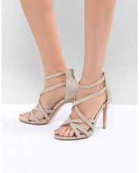 11c83c699f3 True Decadence - Light Gold Sparkle Strappy Sandals - Lyst