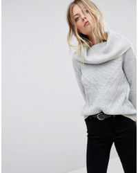 Oasis - Ribbed Cowl Neck Jumper - Lyst
