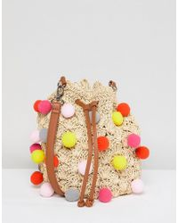 Chateau - Pom Pom Bucket Bag - Lyst