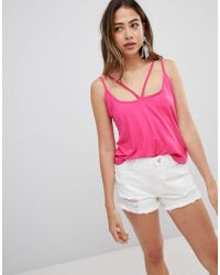 Missguided - Harness Strap Vest Top - Lyst