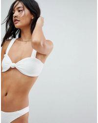 Motel - Ribbed Sweetheart Bikini Top - Lyst