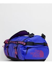 The North Face - Base Camp Duffel Bag Small 50 Litres In Geo- Blue - Lyst