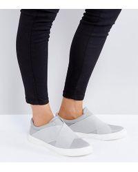 London Rebel - Elastic Strap Slip On Sneakers - Lyst