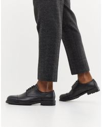 SELECTED - Leather Toe Cap Shoe - Lyst