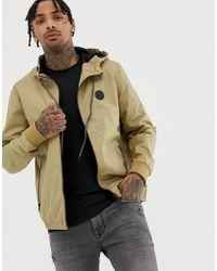 Blend - Lightweight Hooded Jacket In Tan - Lyst