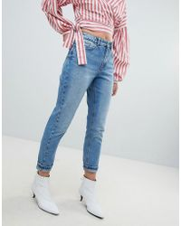 ONLY - Washed Mom Jean - Lyst