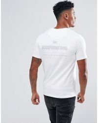 Good For Nothing | Muscle T-shirt In White With Reflective Back Print | Lyst