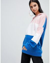Missguided - Colour Block Hoodie In Multi - Lyst