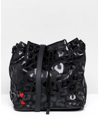 Fred Perry - X Amy Winehouse Foundation Leopard Bucket Bag - Lyst