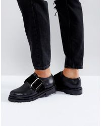 H by Hudson - Buckle Leather Shoe - Lyst