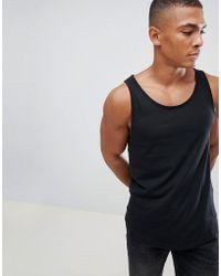 Esprit - Longline Vest With Raw Curved Hem In Black - Lyst