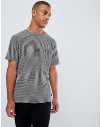 PS by Paul Smith - Slim Fit Stripe Pocket Tshirt In Burgundy - Lyst