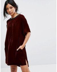 DKNY - Velvet Half Sleeve Sleep Shirt - Lyst