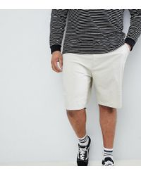 ASOS - Plus Skater Chino Shorts In Putty - Lyst