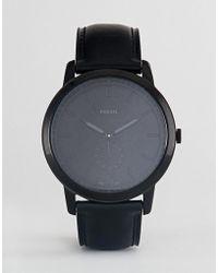 Fossil - Fs5447 The Minimalist Leather Watch In Black - Lyst