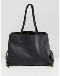 New Look - Lace Up Detail Tote Bag - Lyst