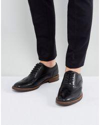 ALDO - Bartolello Leather Brogue Shoes In Black - Lyst