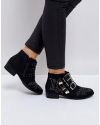 Truffle Collection - Western Stud Buckle Boot - Lyst
