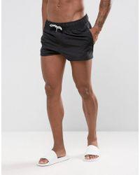 ASOS - Swim Shorts In Black Super Short Length - Lyst
