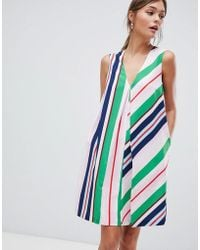 Ted Baker - Tunic Dress In Bay Of Honour Stripe - Lyst