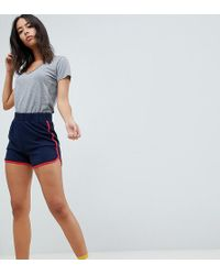 Noisy May Tall - Sweat Running Shorts With Contrast Trim - Lyst