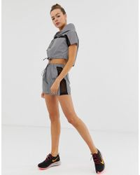 Missguided - Gym Reflective Sports Shorts With Mesh Panels In Grey - Lyst