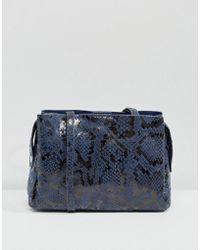 Bershka - Croc Print Cross Body Bag - Lyst