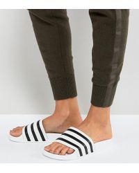 adidas Originals - White Adilette Pool Slides - Lyst