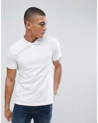 Esprit - Organic Polo Shirt In White - Lyst