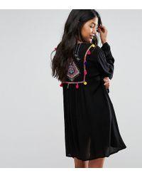 Akasa - Embroidered Back Beach Kimono - Lyst