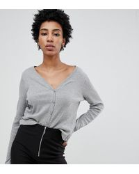 Noisy May Tall - Textured Cropped Cardigan - Lyst