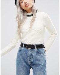 ASOS - Contrast Edge Jeans Belt - Lyst